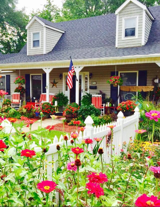 Cottage Garden living embraces the bright colors and wildflowers in their cheery best splendor.
