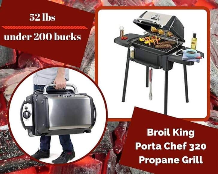 A contender for the Top 6 Portable Gas Grills is this Broil King Porta Chef 320 Propane Grill.