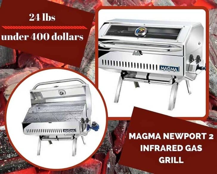 This Magma Newport 2 Infrared Gas Grill almost made it on our Top 6 Portable Gas Grills list.