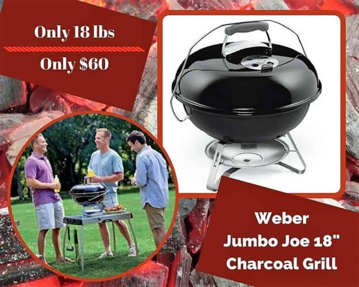 Another Weber charcoal kettle grill makes our honorable mentions on our Top 6 Portable Gas Grills list.