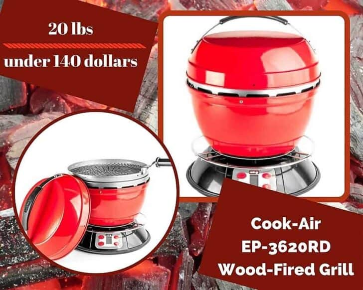 Top 6 Portable Gas Grills are great, but don't forget alternative fuels like this Cook-Air Wood-Fired Grill.