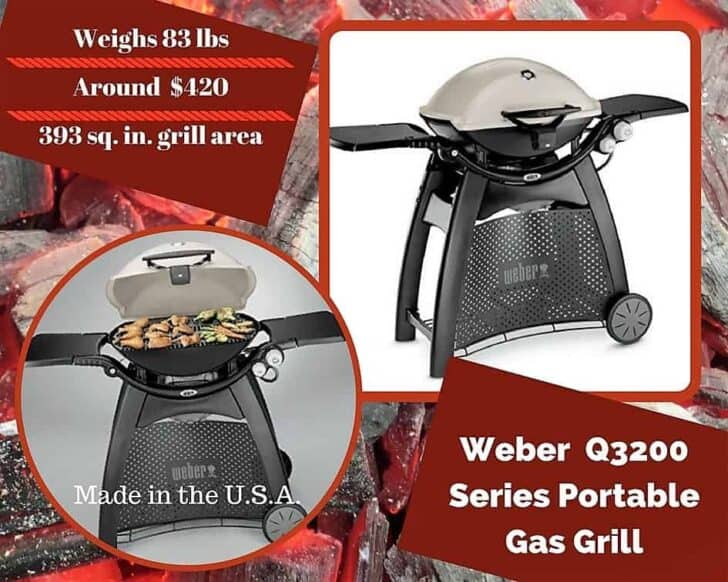 Our third Q-series model from Weber is the model 3200. One of our Top 6 Portable Gas Grills.