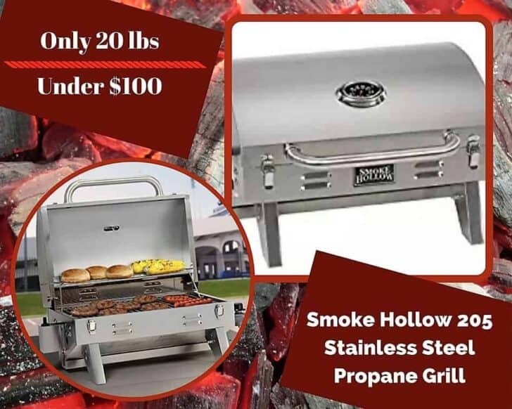 Portable Gas Grills include this Smoke Hollow 205 grill.