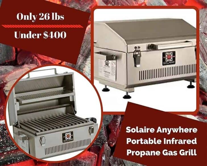 Another Top 6 Portable Gas Grills entrant is the Solaire Anywhere Portable Infrared Propane Gas Grill