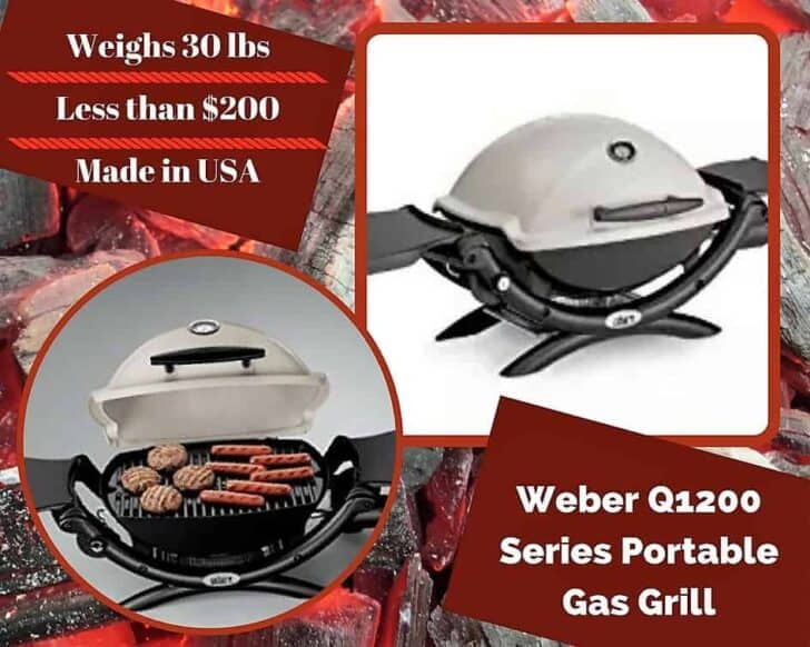 One of our Top 6 Portable Gas Grills is the Weber Q1200 Portable Grill