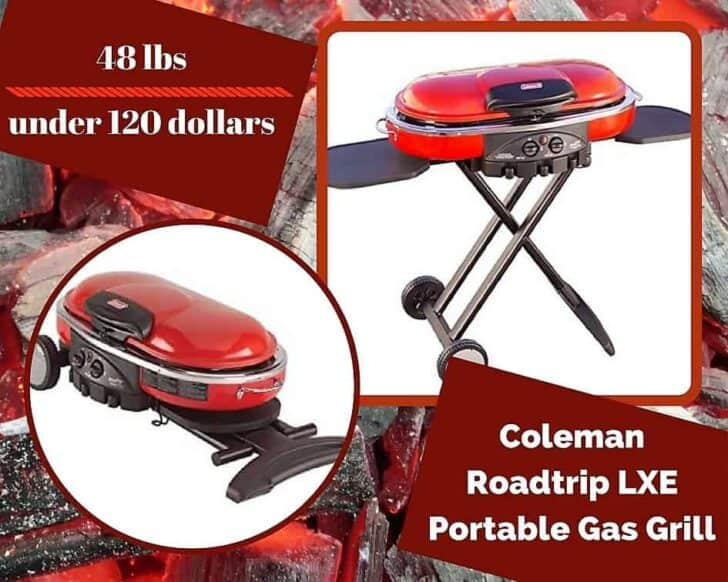 Another fine entrant in our Top 6 Portable Gas Grills, this Coleman Roadtrip LXE Portable Gas Grill packs a lot of power in a small space.