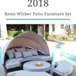 Garden Trend 2018: Resin Wicker Furniture Patio Set