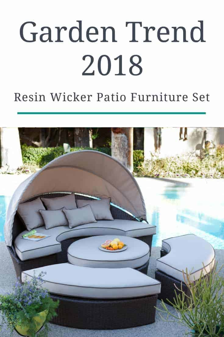 Wicker patio furniture ideas trend 2018 1001 gardens for Outdoor furniture trends 2018