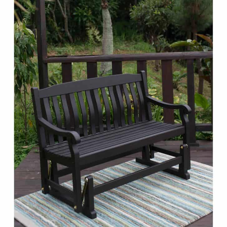 Black Outdoor Bench