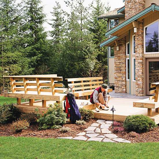 Outdoor Wooden Bench, The Best Place to Seat 10 - Patio & Outdoor Furniture - 1001 Gardens