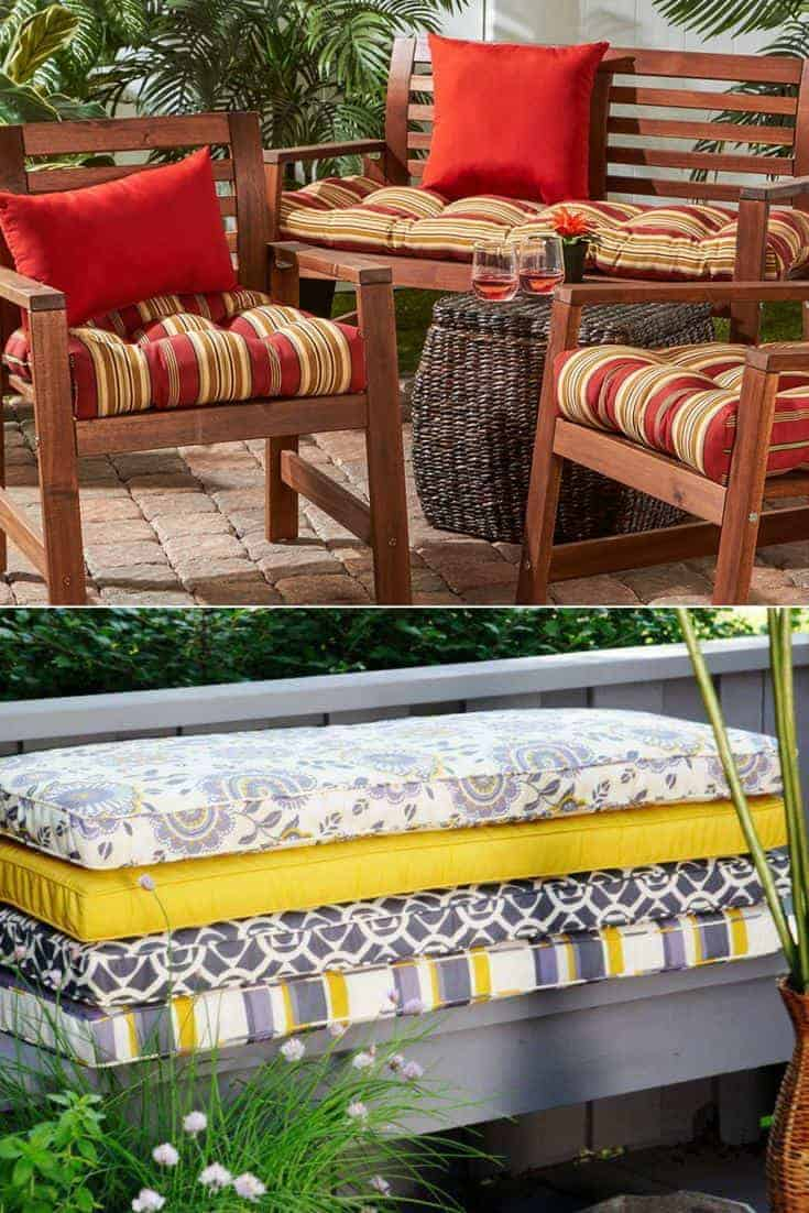 Outdoor Bench Cushions Selection