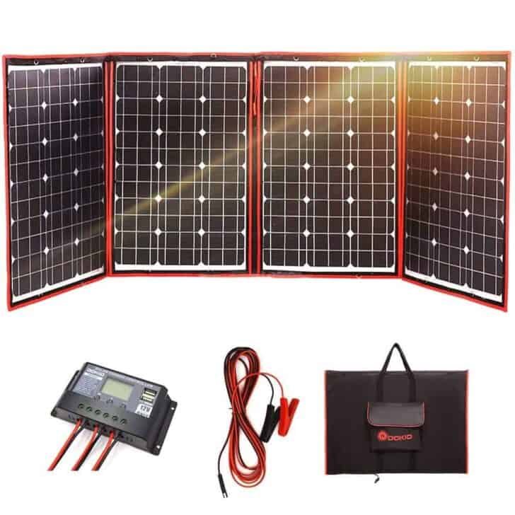 DOKIO 200 Watts 12 Volts Monocrystalline Foldable Solar Panel