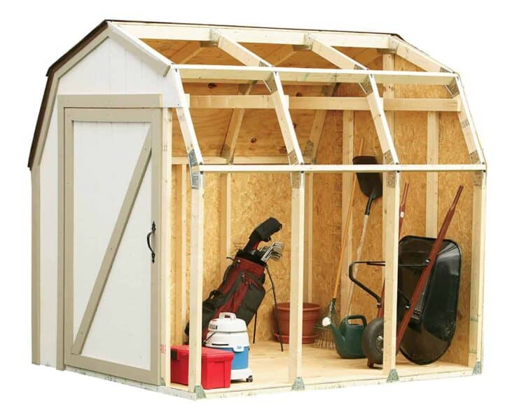 Hopkins 90190 2x4basics Shed Kit Barn Style Roof