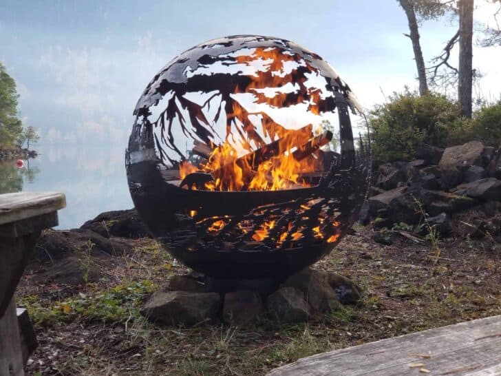 Rounded West Coast Firepit