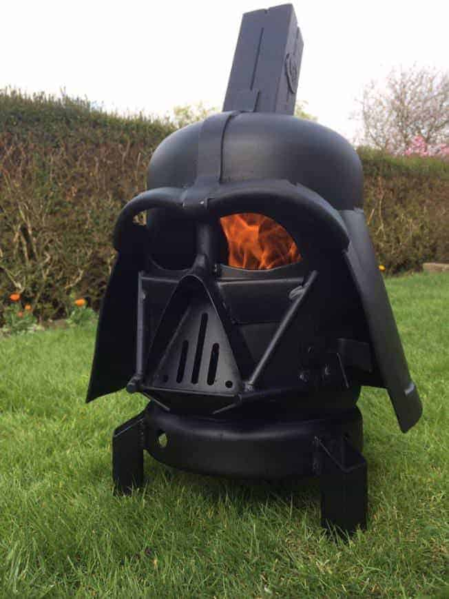 Darth Vader Wood Burner Fire Pit