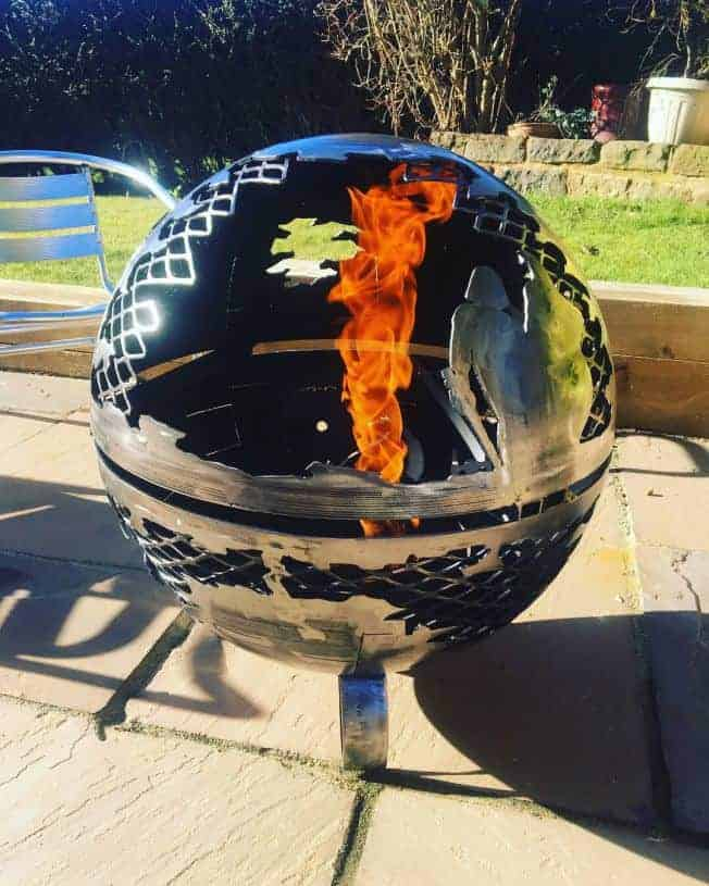 Death Star Wood Burner Fire Pit 560mm