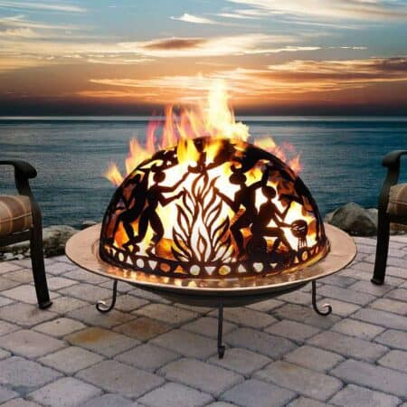 Full Moon Party Copper Fire Pit Set