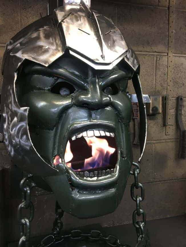Incredible Hulk Wood Burner Fire Pit