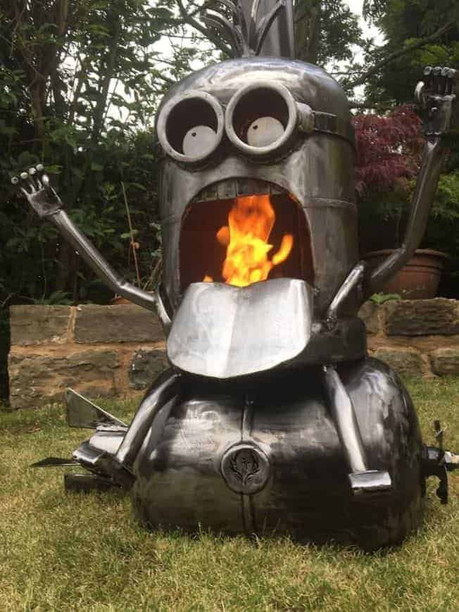 Minion Bomb Riding Wood Burner Fire Pit