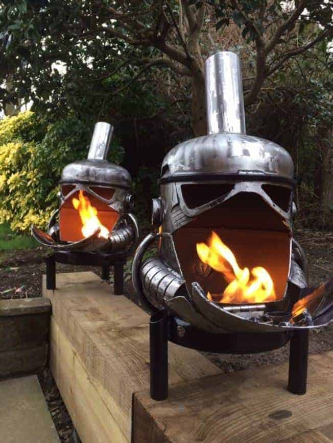 Storm Trooper Wood Burner Fire Pit