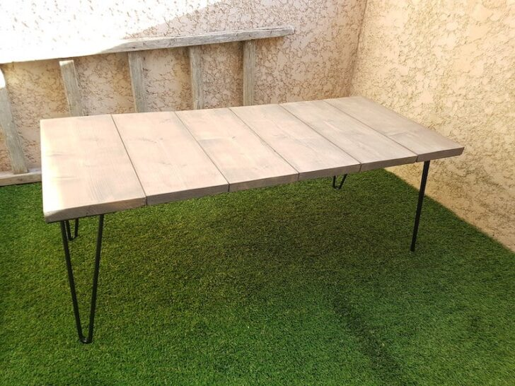 How to Make an Outdoor Wooden Coffee Table for Less than 100-2