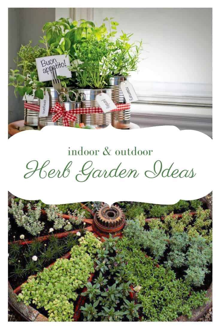 24 Herb Garden Ideas Outdoor Indoor 1001 Gardens