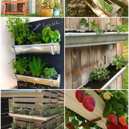 20 Easy DIY Gutter Garden Ideas #6 Is for You