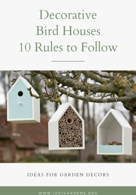 Decorative Bird Houses: The 10 Rules to Follow