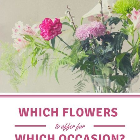 Which flowers to offer for which occasion